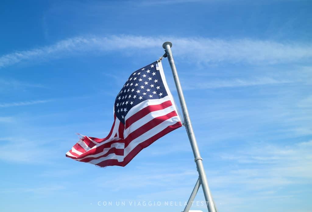 Viaggio a boston bandiera