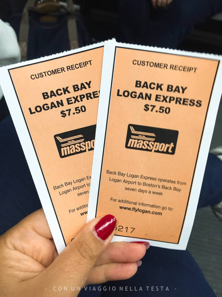 I biglietti del Logan Express per arrivare in centro a Boston dall'aeroporto e viceversa