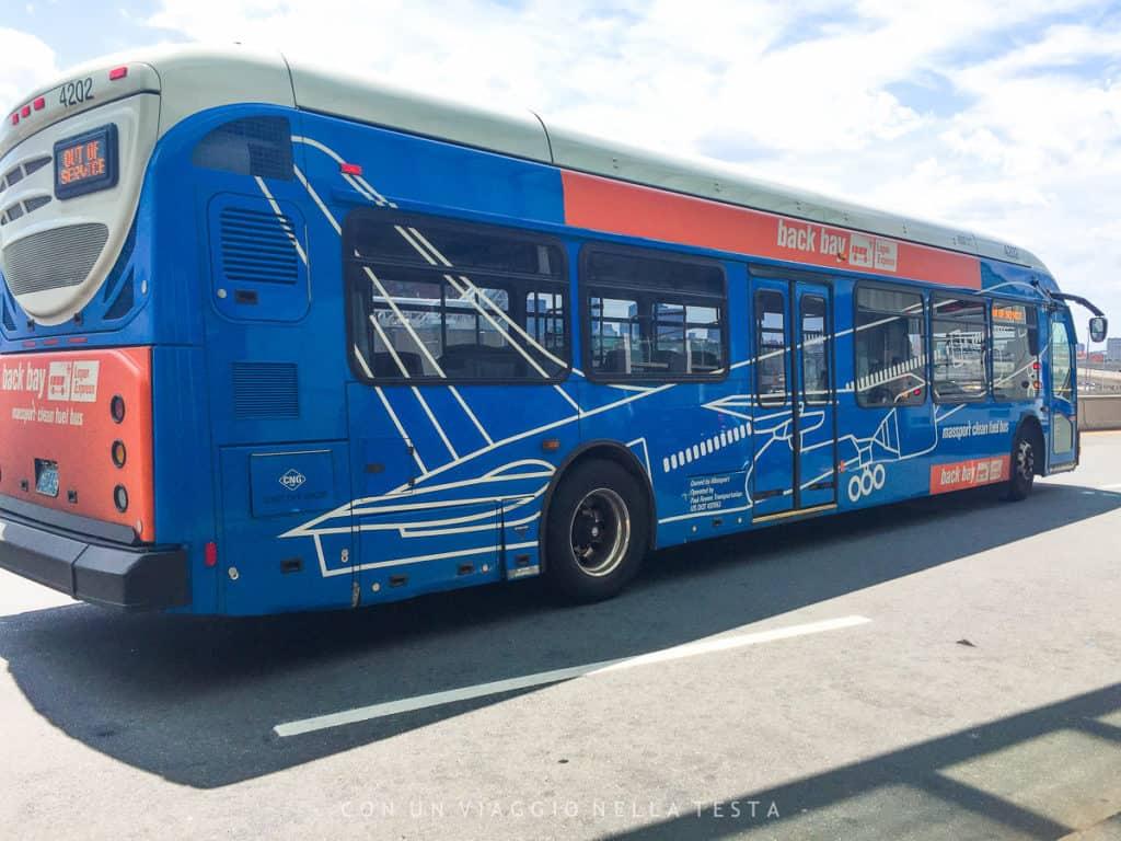 Il bus blu Logan Express