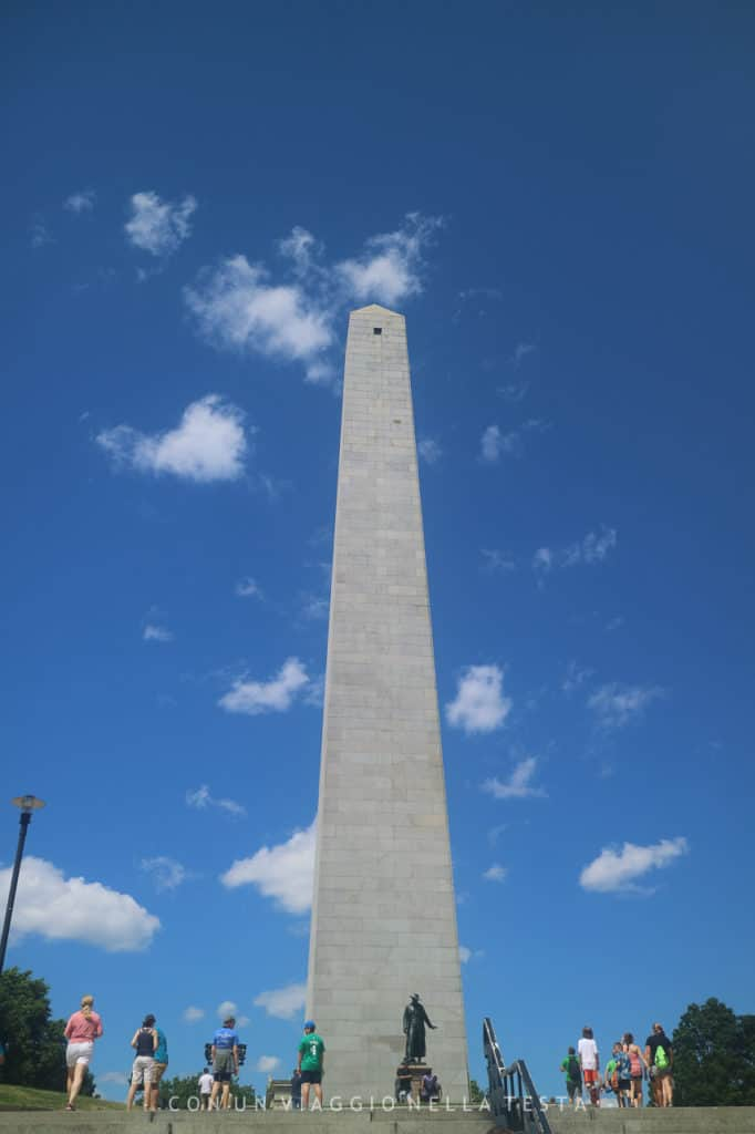 Il Bunker Hill Monument freedom trail