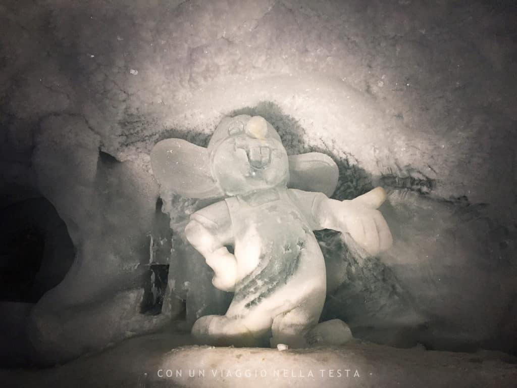 Sculture di ghiaccio nell'Eispavillon