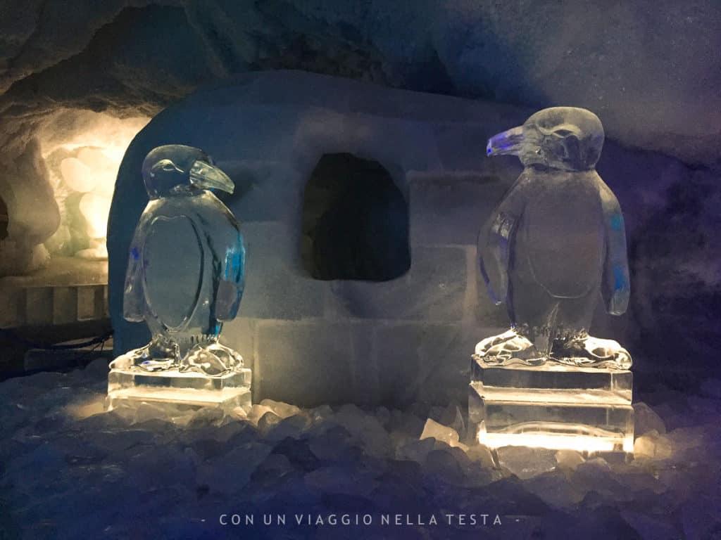 Sculture di ghiaccio e installazioni luminone dell'Eispavillon