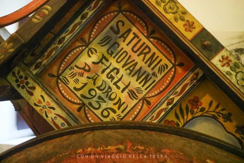 Museo di Storia della Mezzadria Senigallia biroccio dettaglio