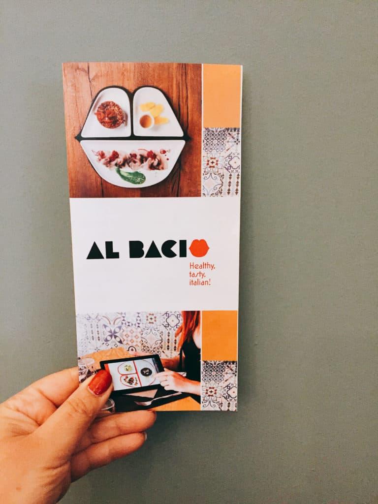 Ristorante Al Bacio Milano, il menu