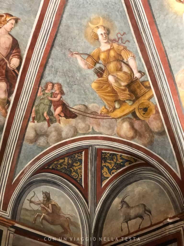 La stanza dello zodiaco, Casa Atellani vigna di leonardo