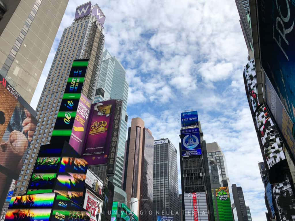 cose da fare a new york in estate times square