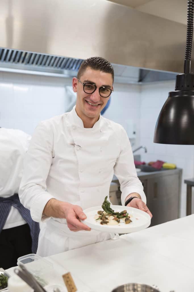 Lo chef di Ottocentodieci Ristorante, Rigels Tepshi