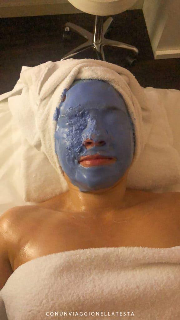 trattamento al viso alla Blu Moret SPA dell'Hotel Là di Moret