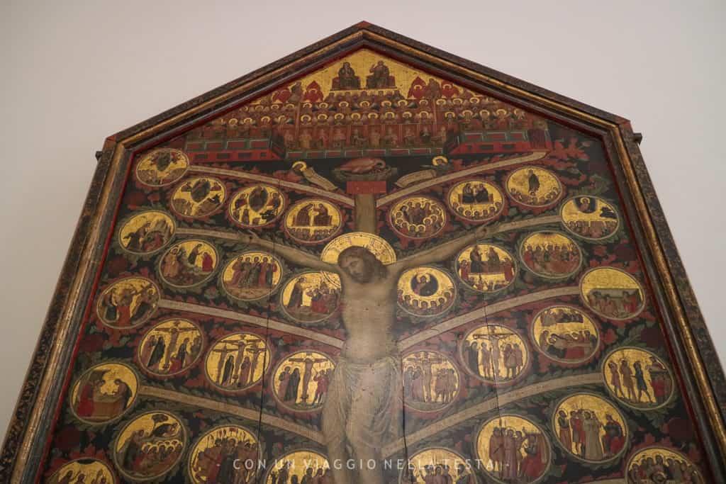 Una delle tavole a fondo oro della sezione dedicata alla pittura antica alla Galleria dell'Accademia di Firenze