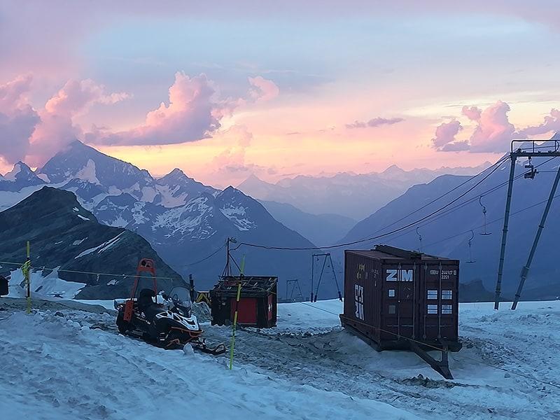 tramonto al plateau rosa